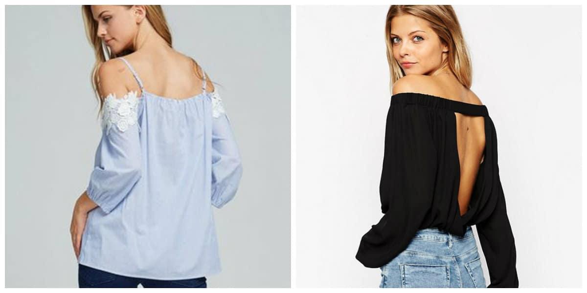 Moda femenina 2020- modelos en recortes de cintura y espalda