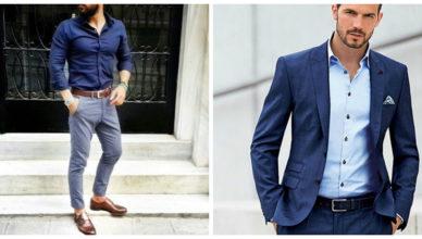 Moda masculina 2018- color azul para trajes y jeans de moda