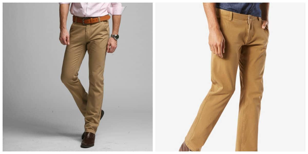 Moda masculina 2020- color beige para pantalones de hombre
