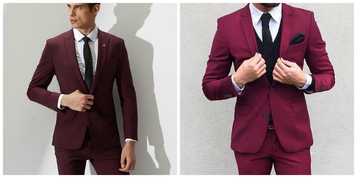 Moda masculina 2020- tonalidades de rojo para trajes de moda