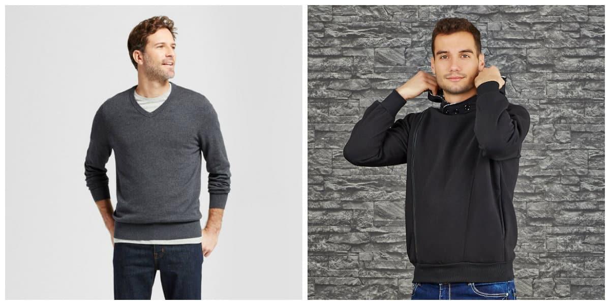 Moda masculina 2020- chaquetas de punto con recorte