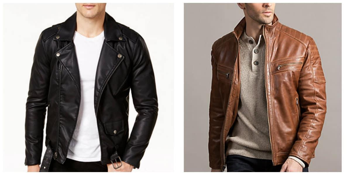 Moda masculina 2020- materiales de cuero y laca vuelven a moda
