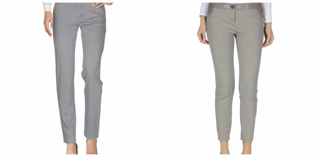 Pantalones de moda 2020- modelos cortos en gris muy elegantes