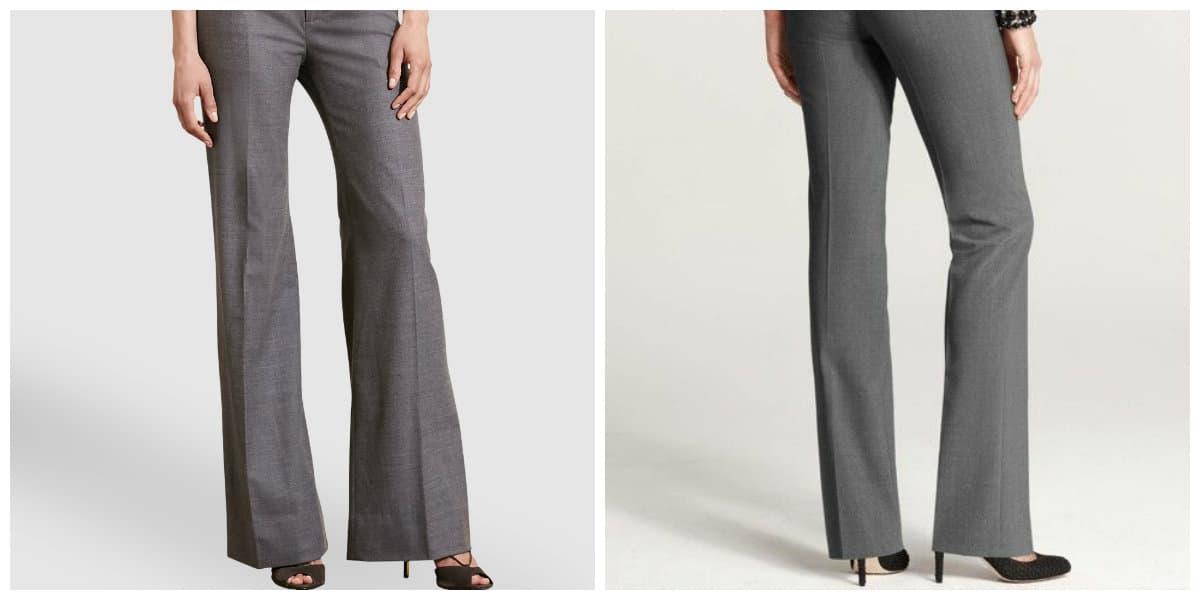 Pantalones de moda 2020- amplios modelos de gris muy de moda