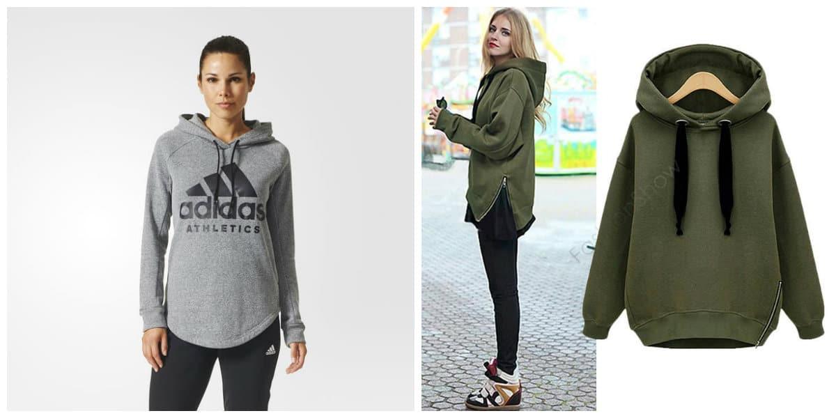 Ropa deportiva mujer 2018- tendencias de sudadera de moda
