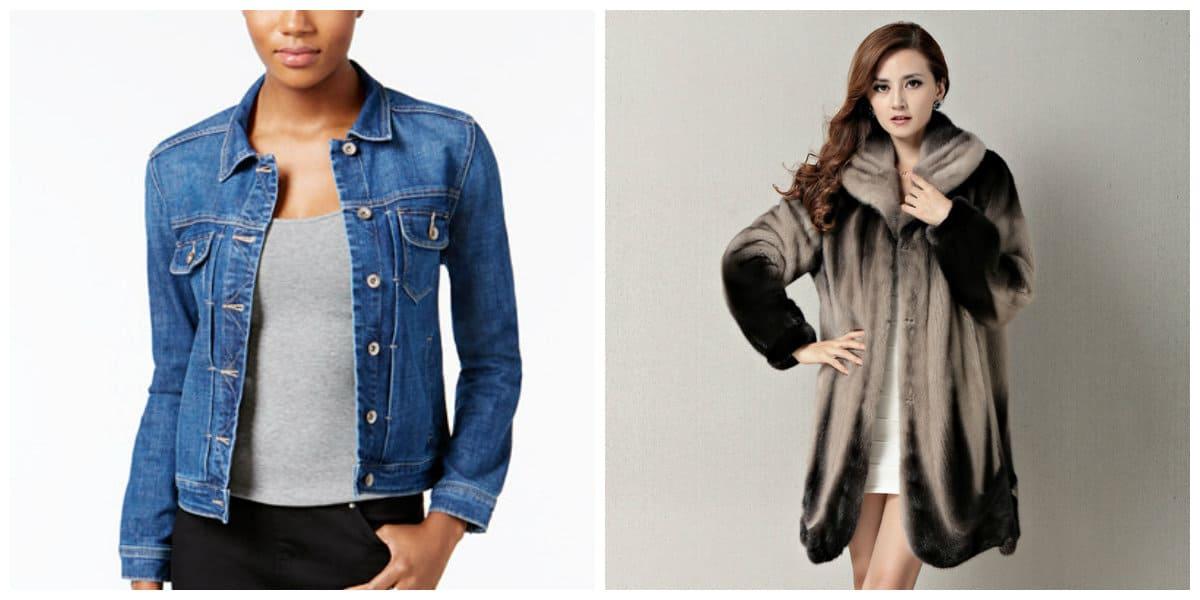 Tendencias de moda 2018- abrigo de jeans y abrigo de invierno