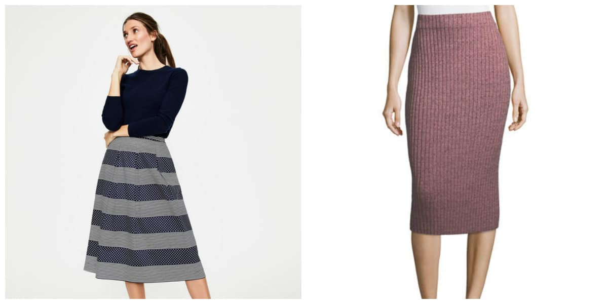 Tendencias de moda 2018-faldas de diferentes longitudes