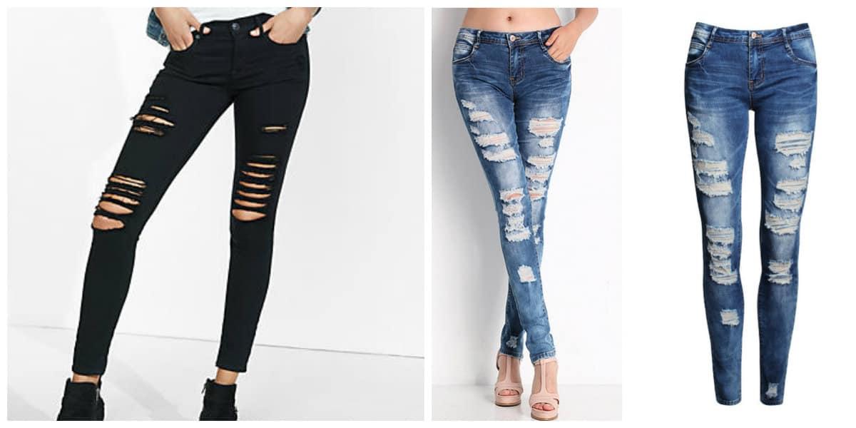 Tendencias de moda 2018- pantalones jeans cotidianas