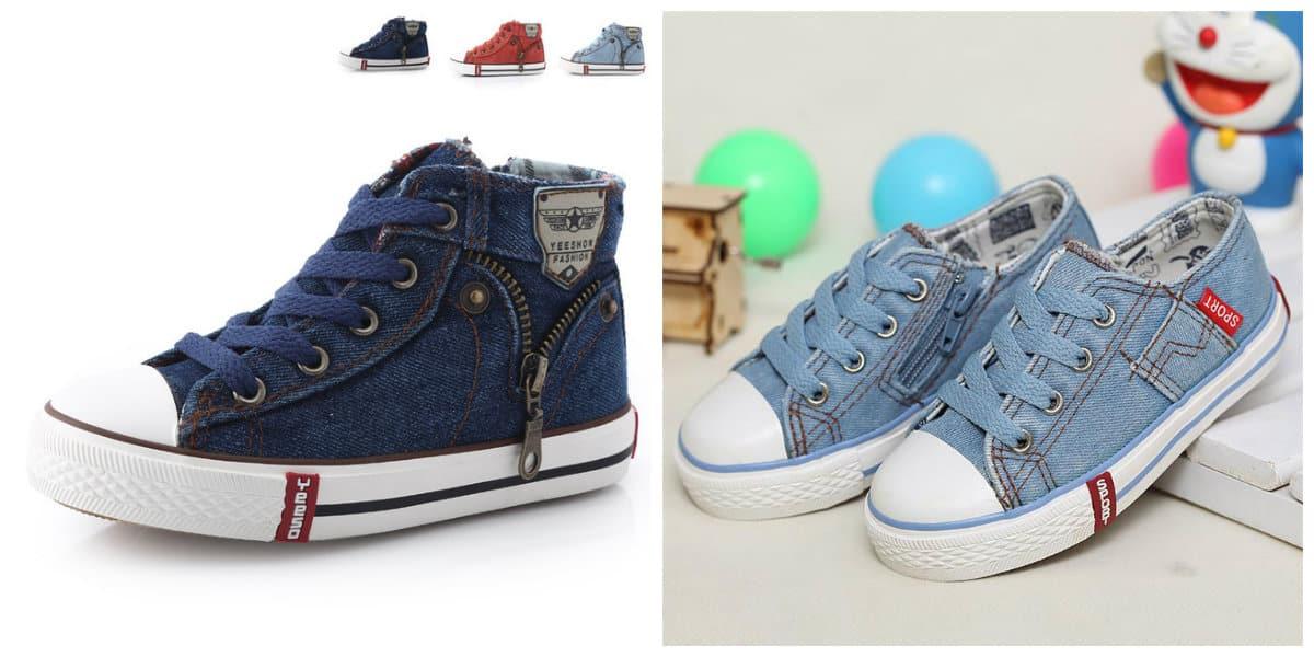 Zapatos para niños 2020- modelos de lona muy comodas