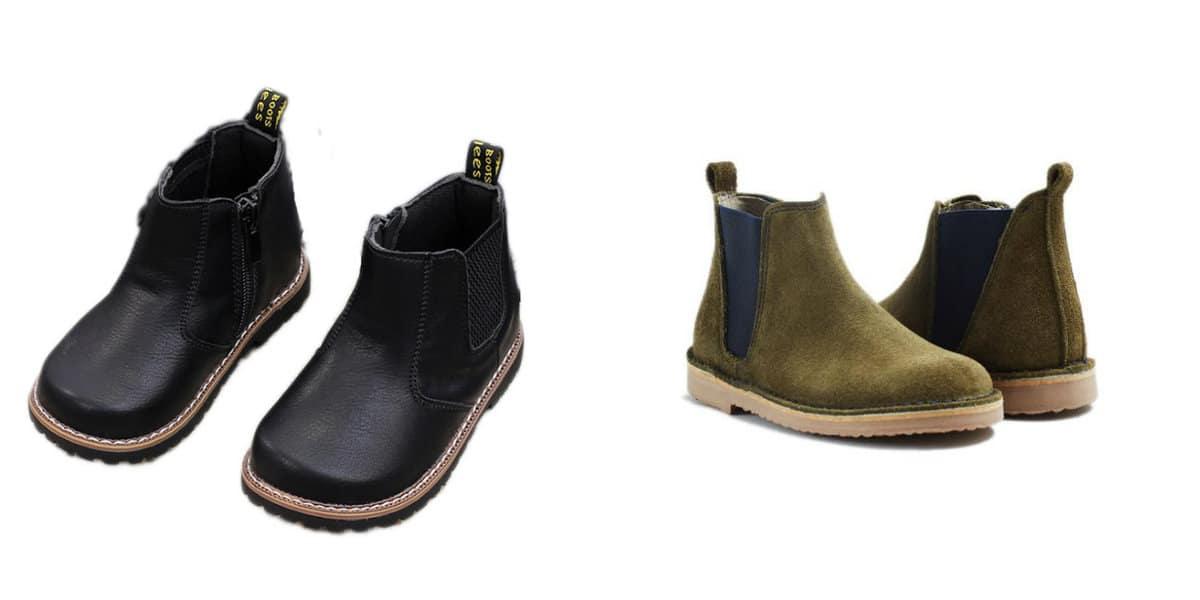 Zapatos para niños 2020- botas Chelsea muy de moda