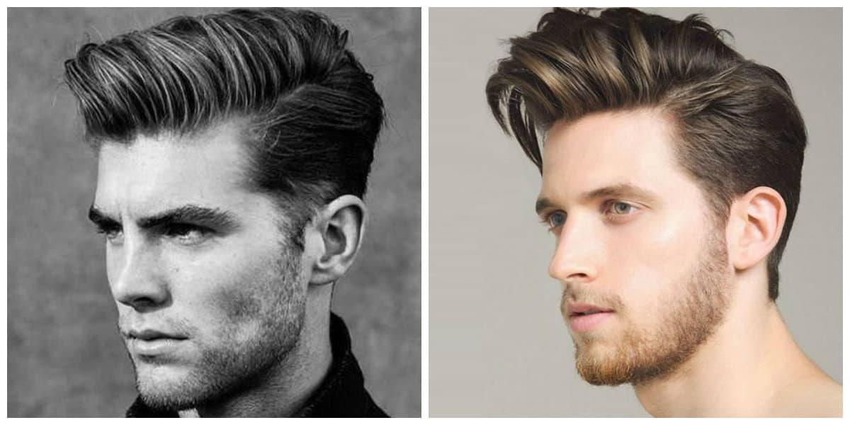 Corte de pelo pompadour- estilo muy elegante para los hombres