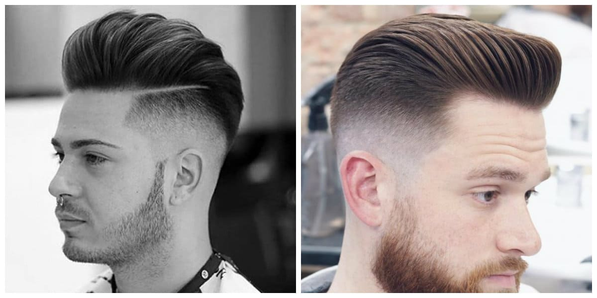 Corte de pelo pompadour- combinable con la barba masculina