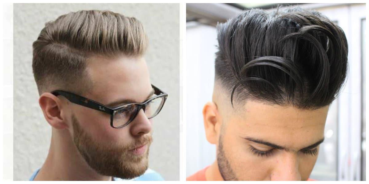 Corte de pelo pompadour- una amplia gama de colores de cabello