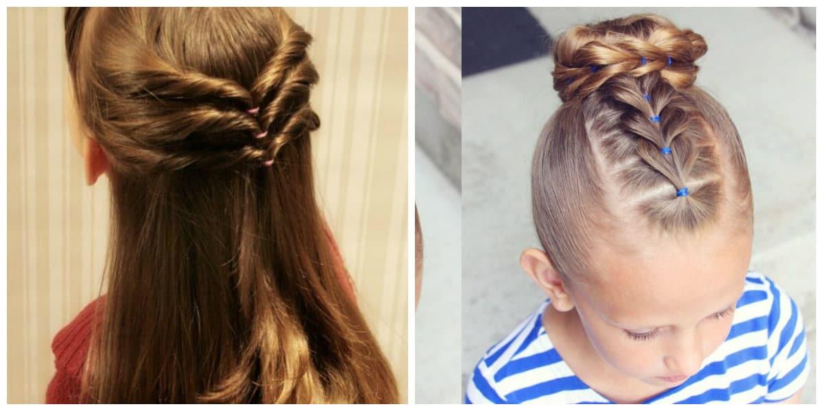 Peinados para niñas 2022- uso de diferentes tipos de texturas