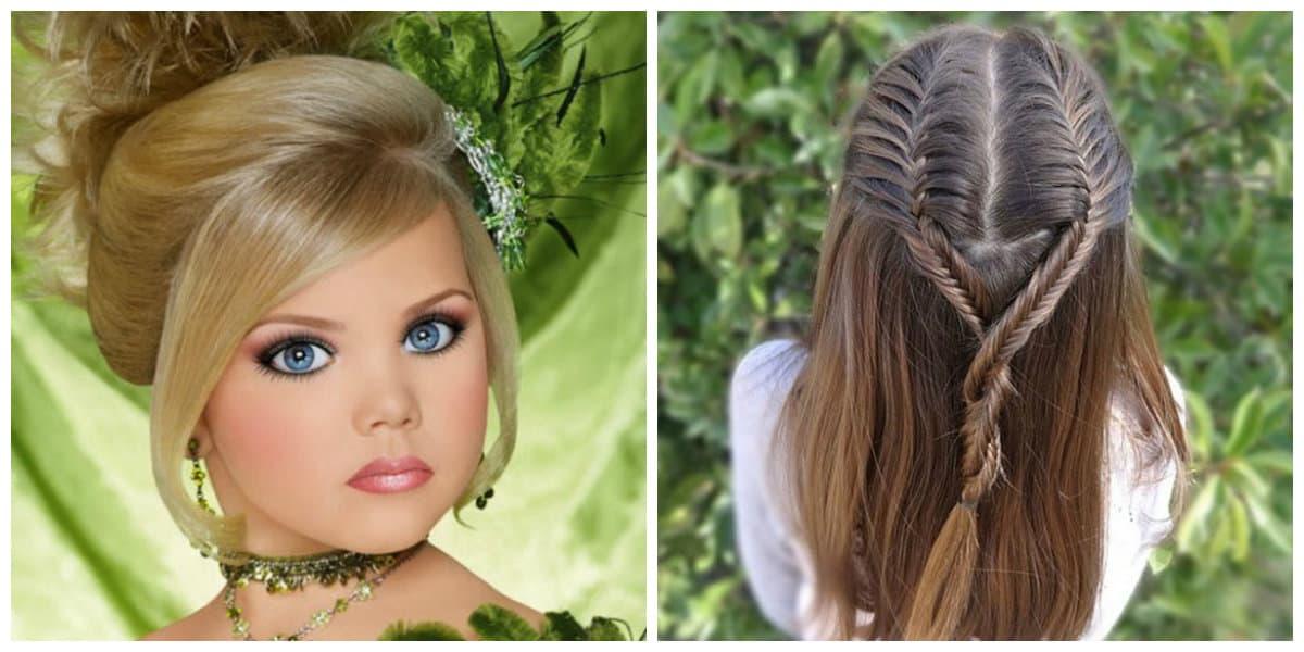Peinados para niñas 2022- ideas interesantes para el pelo de longitud mediano