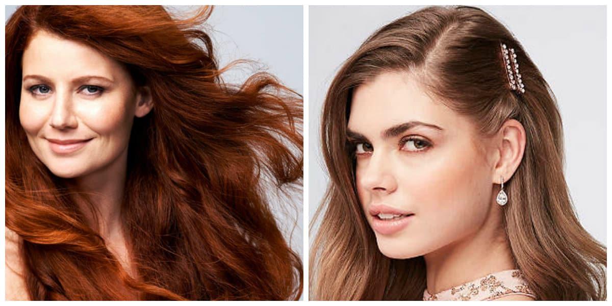 Aceite de bardana- tonalidades del marron para pelo largo femenino
