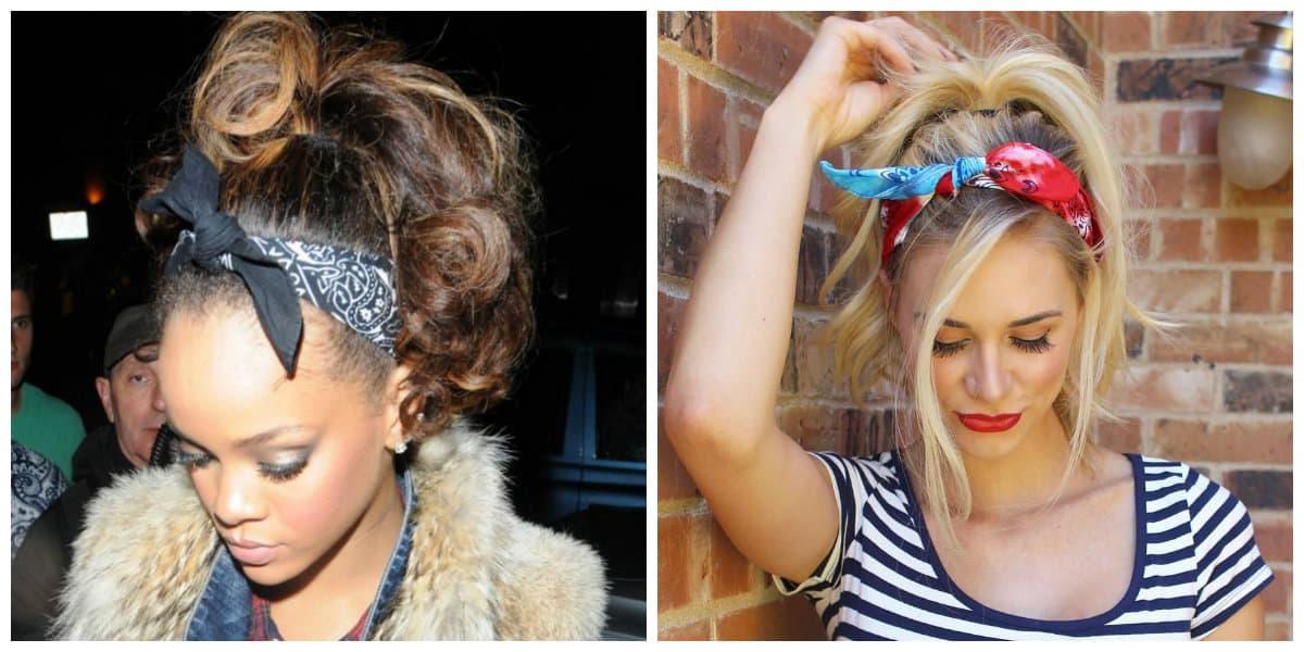 Bandanas para el pelo- ideas extravagantes para las chicas muy de moda