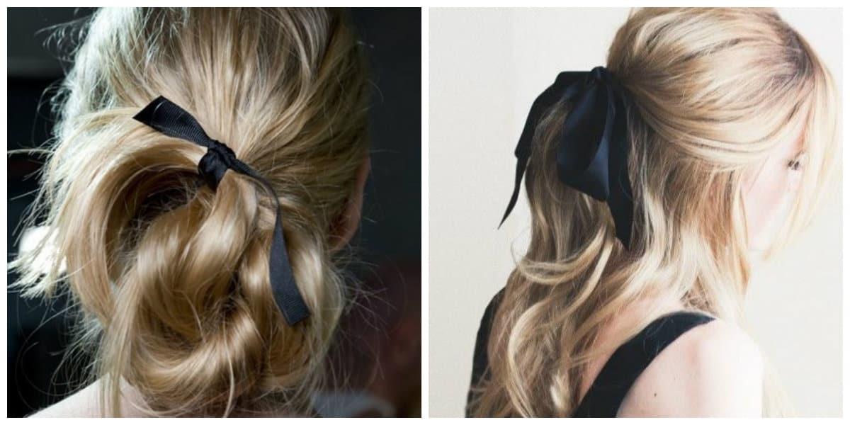 Cintas para el pelo- cintas de color negro muy elegantes y sencillos