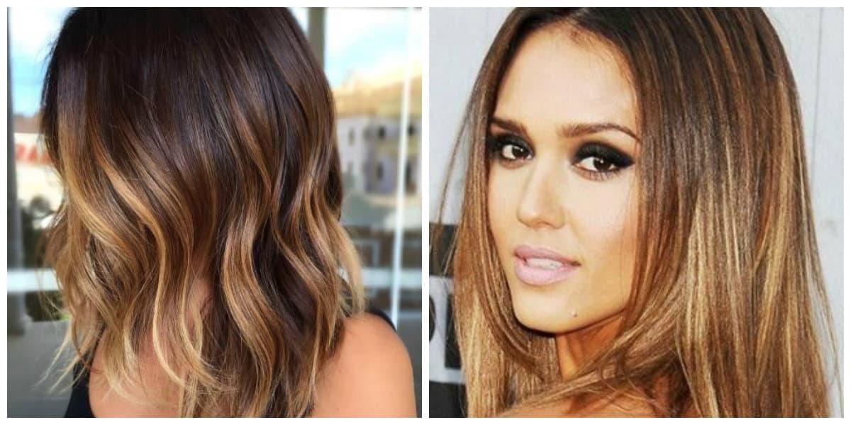 Color del cabello 2018- contraste de las tonalidades de color