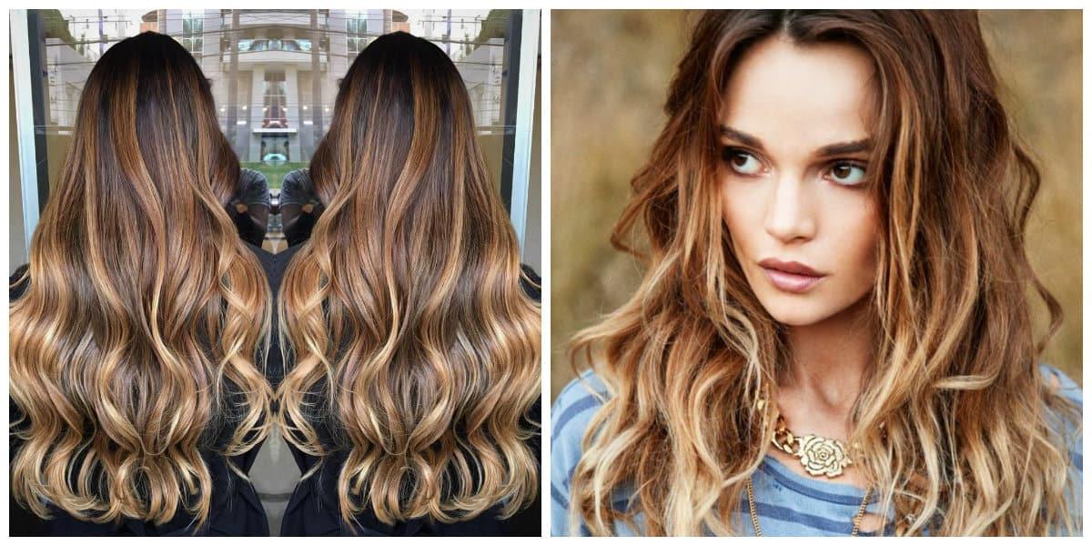 Color del cabello 2018- varientes de pelo con estilo ojo de tigre