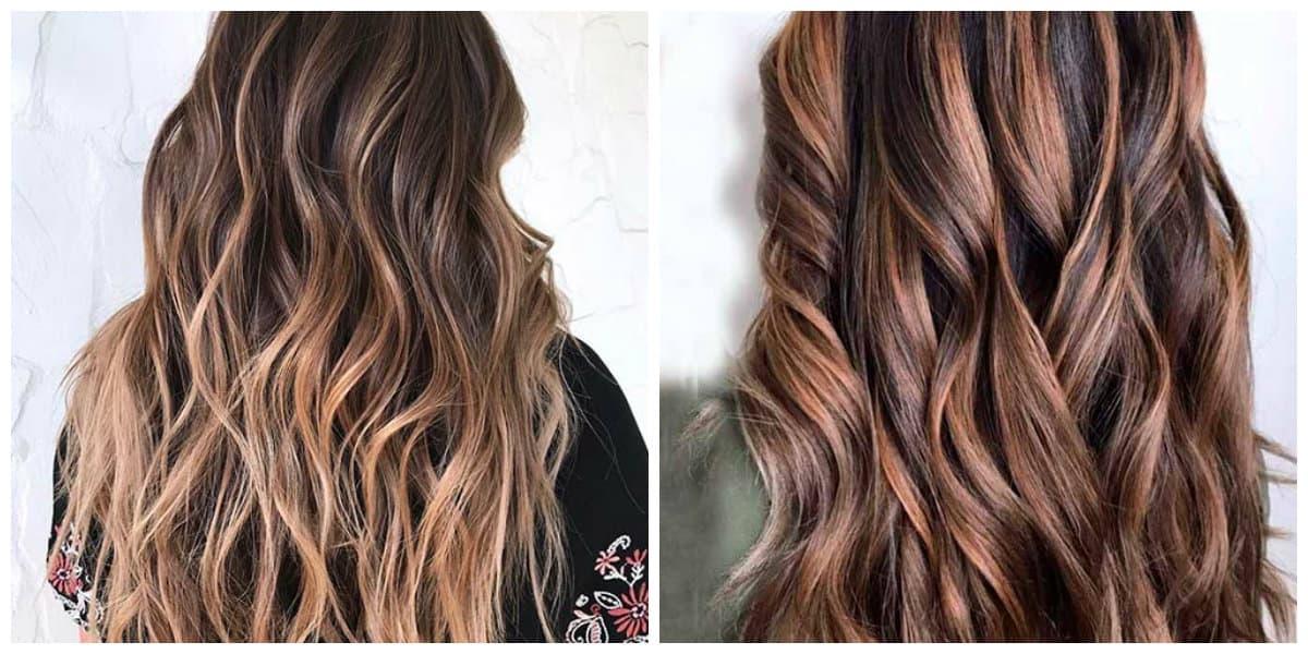 Color del cabello 2018- tonalidades del maron para el pelo largo