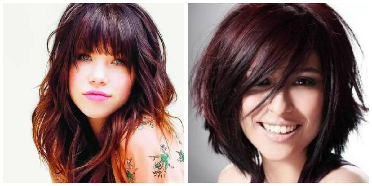 Corte de pelo cuadrado- tonalidades modernas del color rojo
