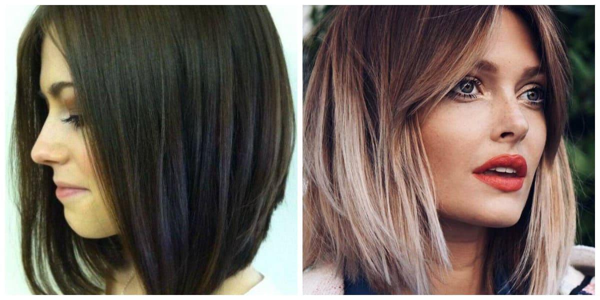 Corte de pelo cuadrado- combinacion de colores oscuros y claros