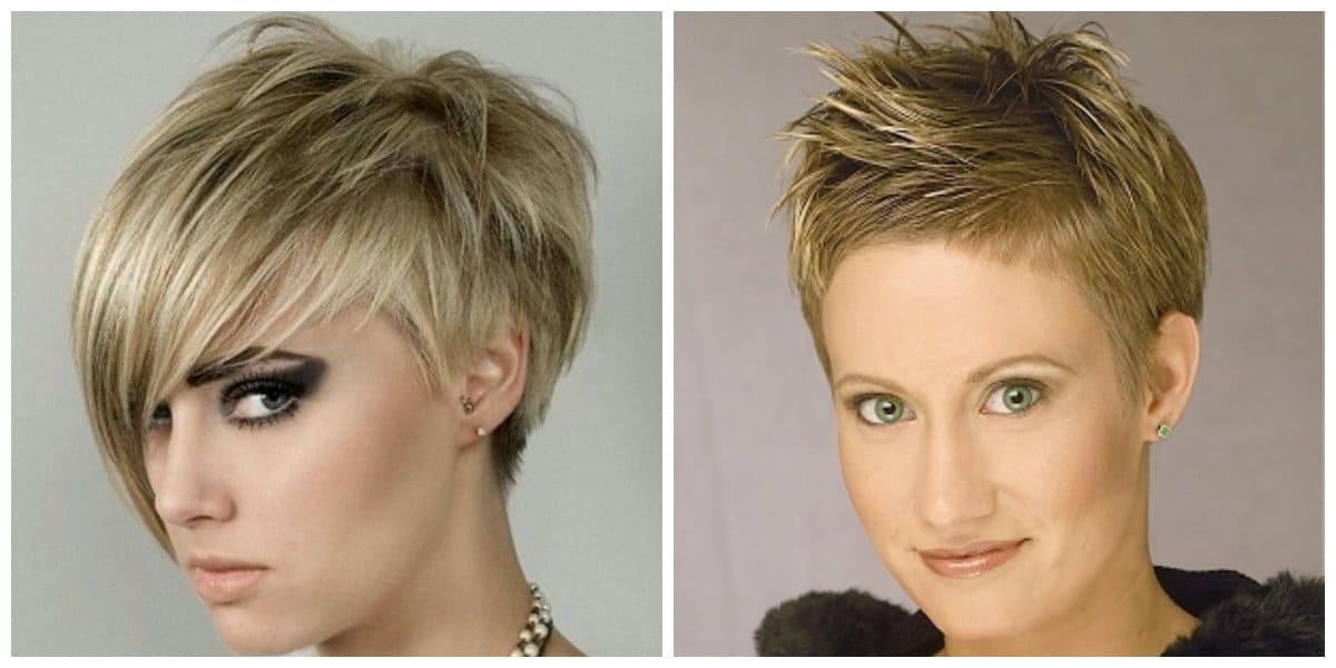 Corte de pelo pixie- color de pelo claro en la mayoria de los casos