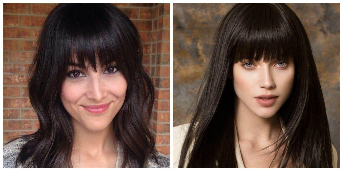 Flequillo recto- peinados de moda para mujeres modernas