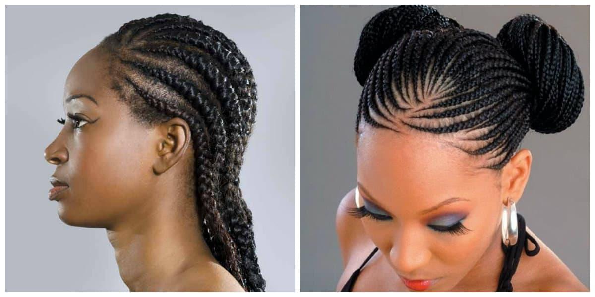 Peinados con trenzas africanas- pelo trenzado muy de moda