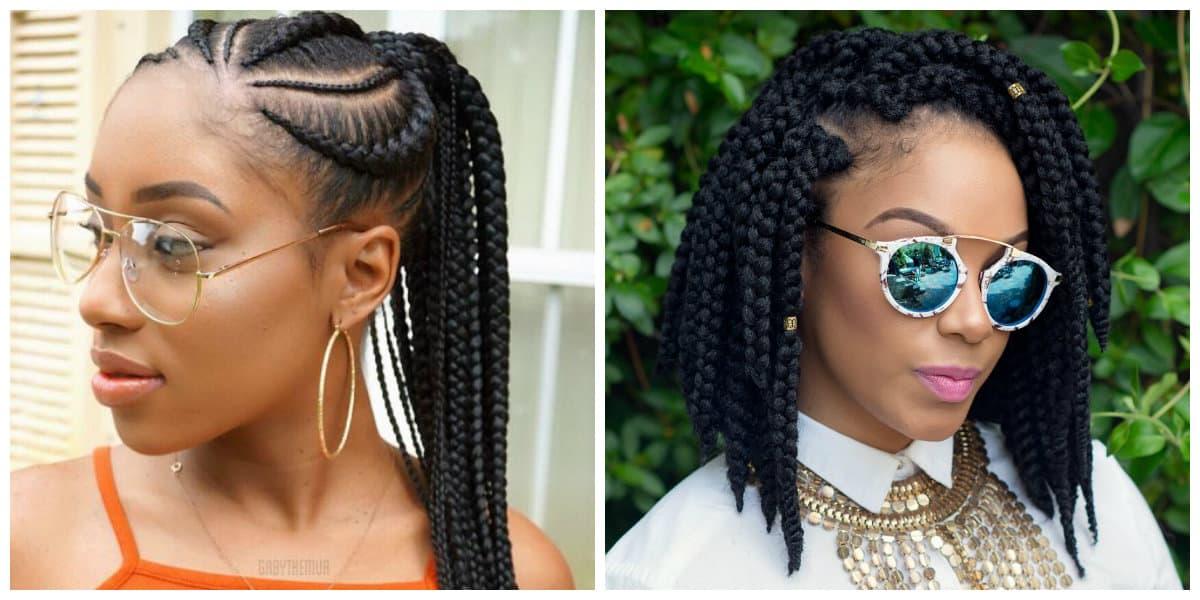 Peinados con trenzas africanas- para cortos y largos pelos