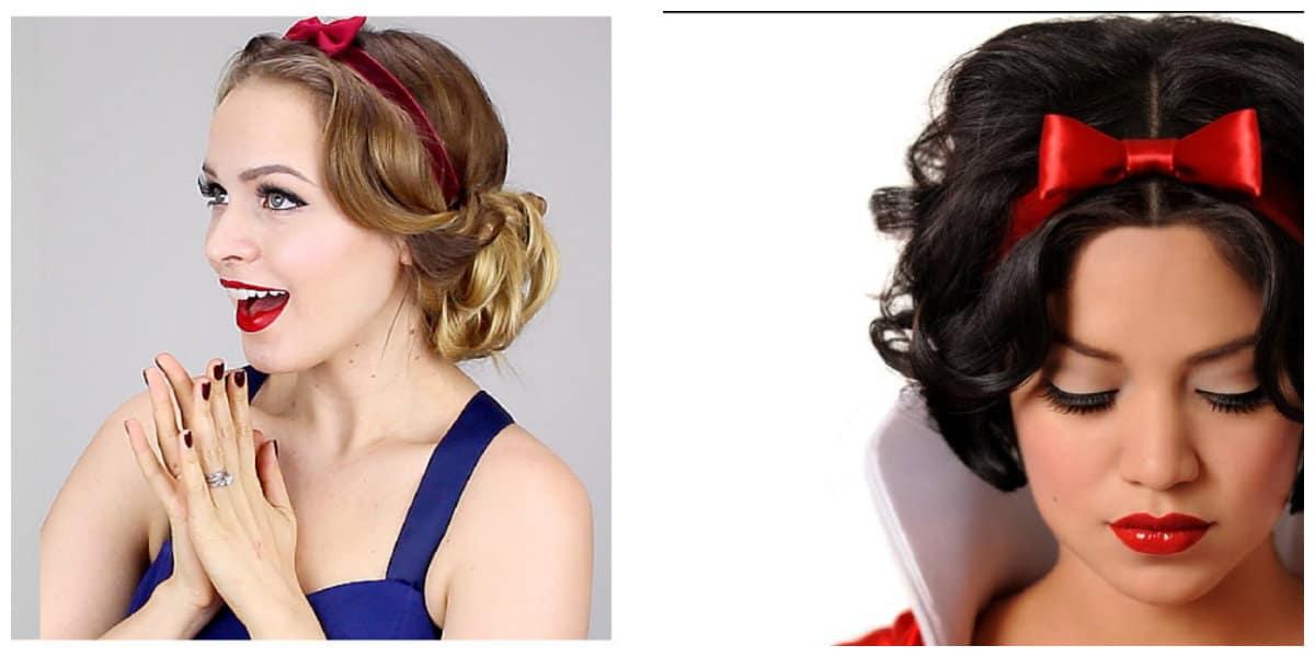 Peinados de princesas- cotes en estilo de blancanieve moderna