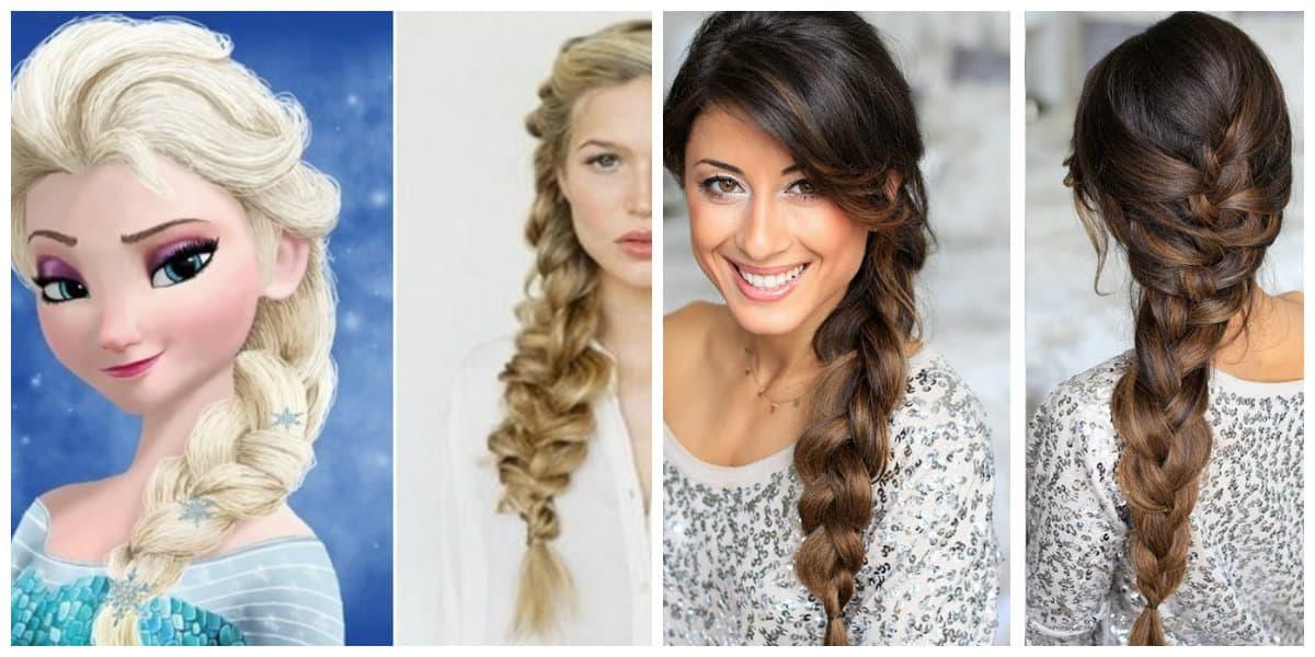 Peinados de princesas- estilo de peinados de Elsa para mujeres y chicas