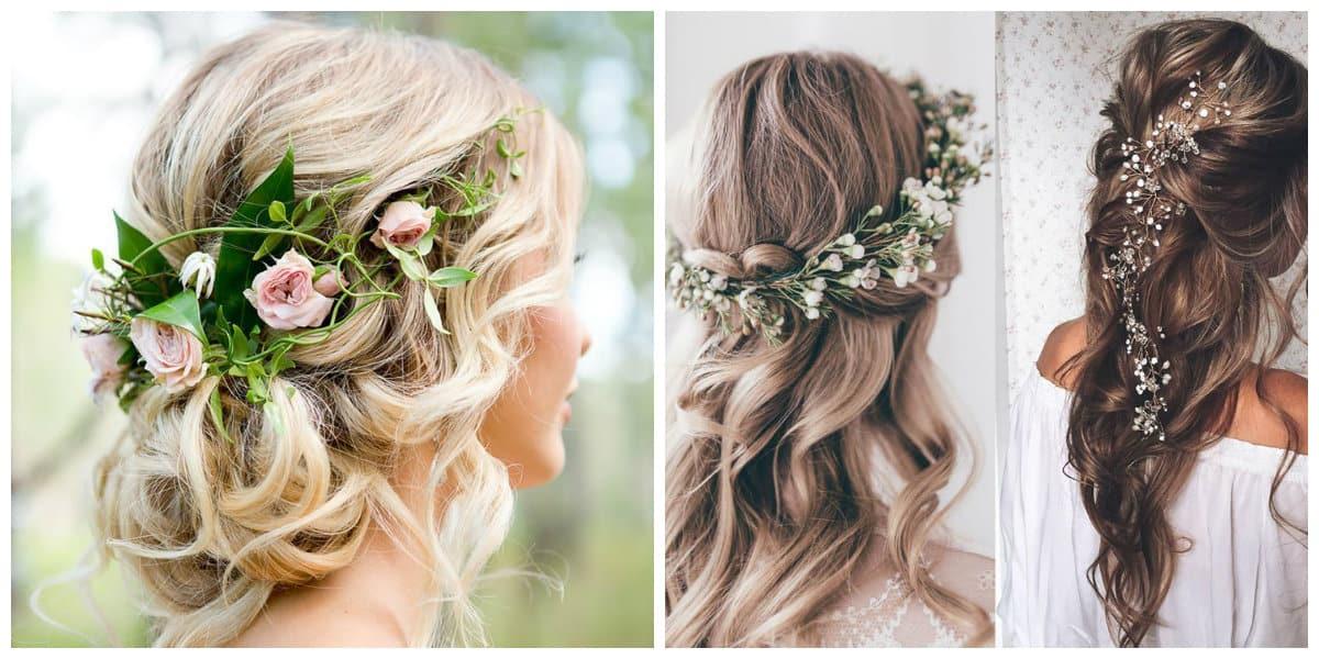 Peinados de novia en pelo corto 2020