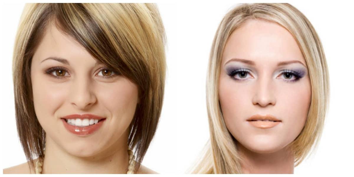 Peinados para cara ovalada- pelo de color claro de moda