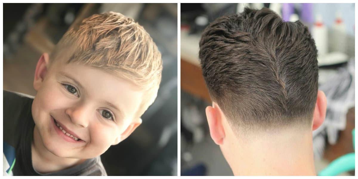 Pelo de erizo- cortes de pelo para diferentes colores desde gama de pelo