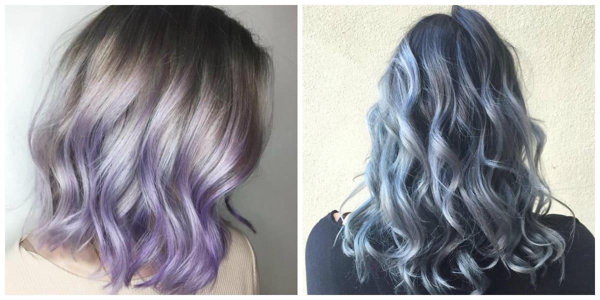 Pelo denim- tonalidades de color violeta y azul