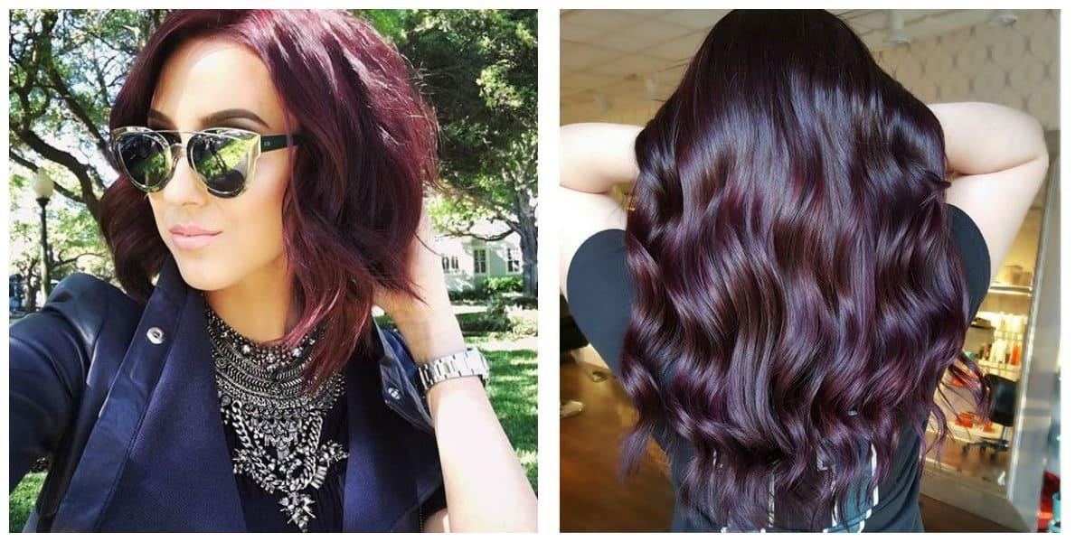 Pelo negro cereza- se aplica tanto al cabello corto como al largo