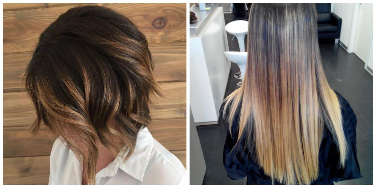 Tendencias color cabello 2018- brillantes ejemplos de shatush en uso