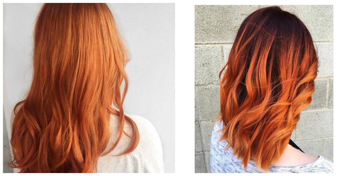 Tonos de cabello rojo- representadas todas las tendencias principales