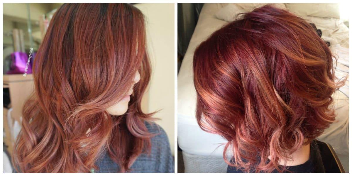 Tonos de cabello rojo- suaves tonalidades del color rojo de moda