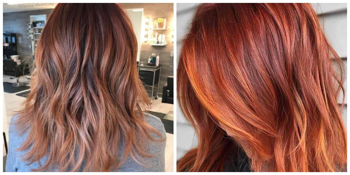 Tonos de cabello rojo- combinacion de diferentes tonos de rojo sobre el pelo