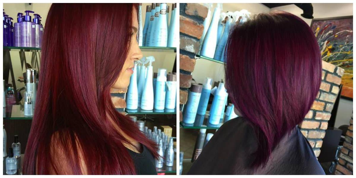 Tonos de cabello rojo- ideas creativas de colorear los pelos