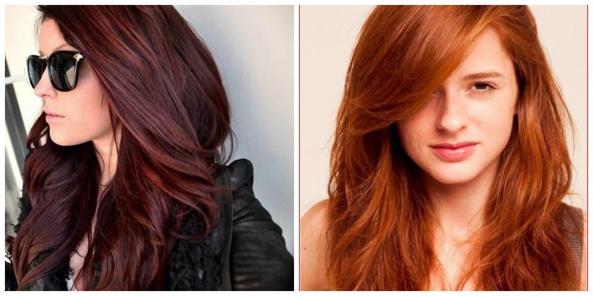 Tonos de cabello rojo- todas las tonalidades modernas del coor rojo