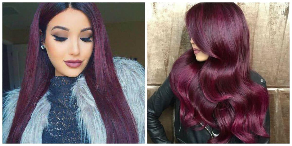 Color borgoña para cabello- una tonalidad muy rica de moda