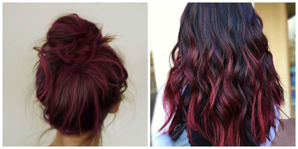 Color borgoña para cabello- ideas muy simples y bonitas de moda