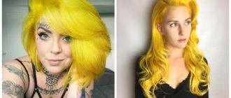Color de cabello amarillo- coloracion atrevida para las chicas de moda