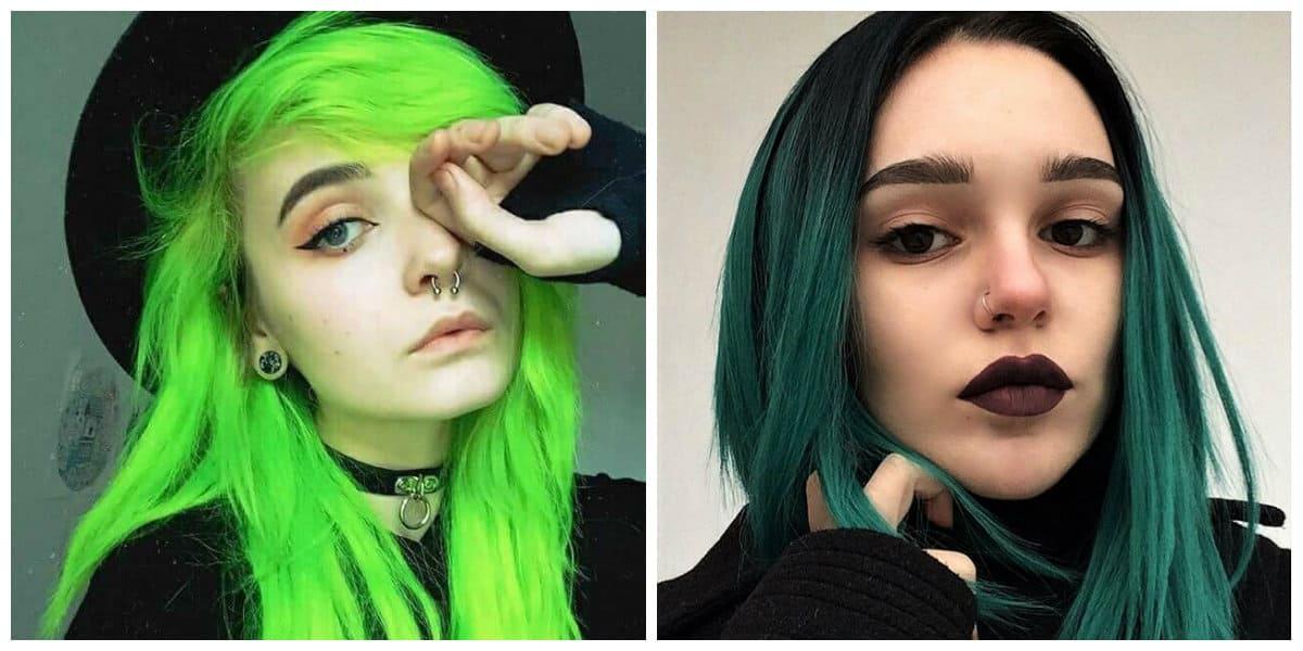 Color de pelo verde- ideas extravagantes para las mas atrevidas