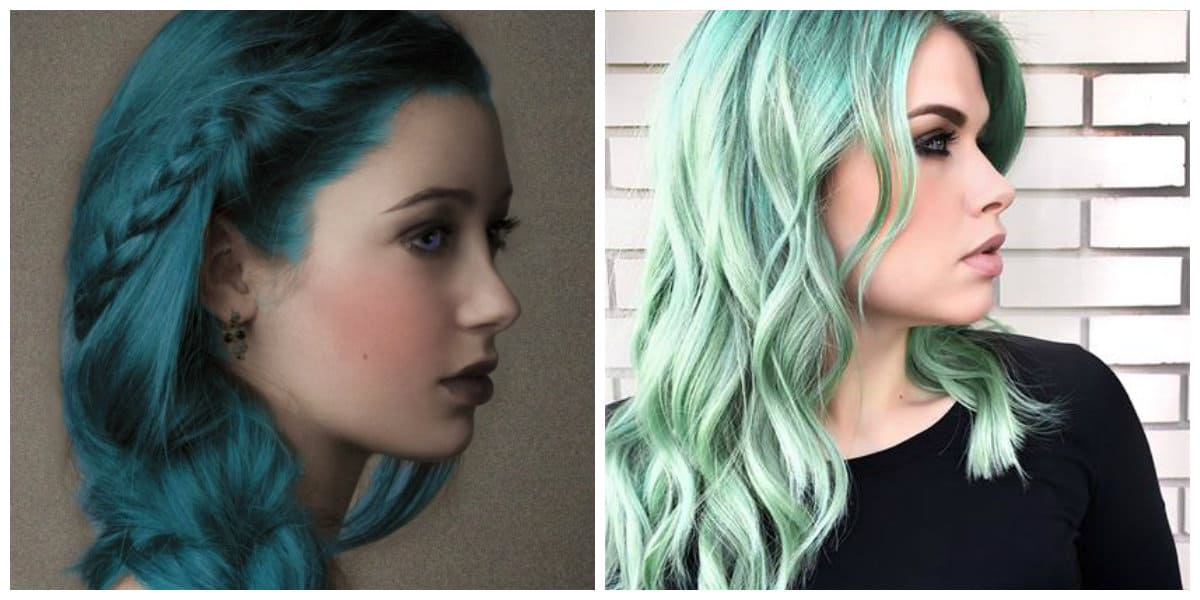 Color de pelo verde- tonalidades de verde despues de blanqueamiento