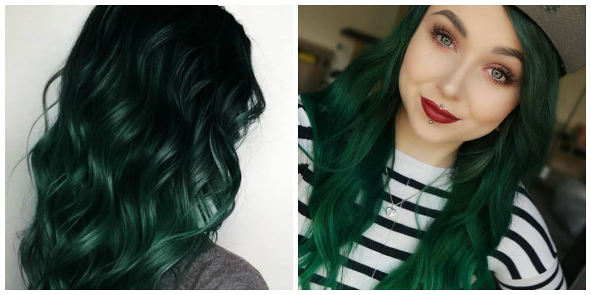 Color de pelo verde- interesantes ideas de la cooracion de pelo